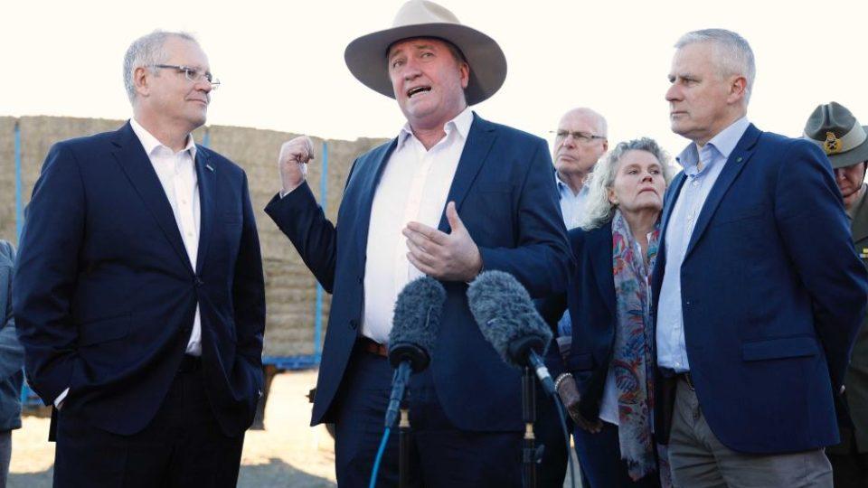 Barnaby Joyce, Scott Morrison, Michael McCormack.