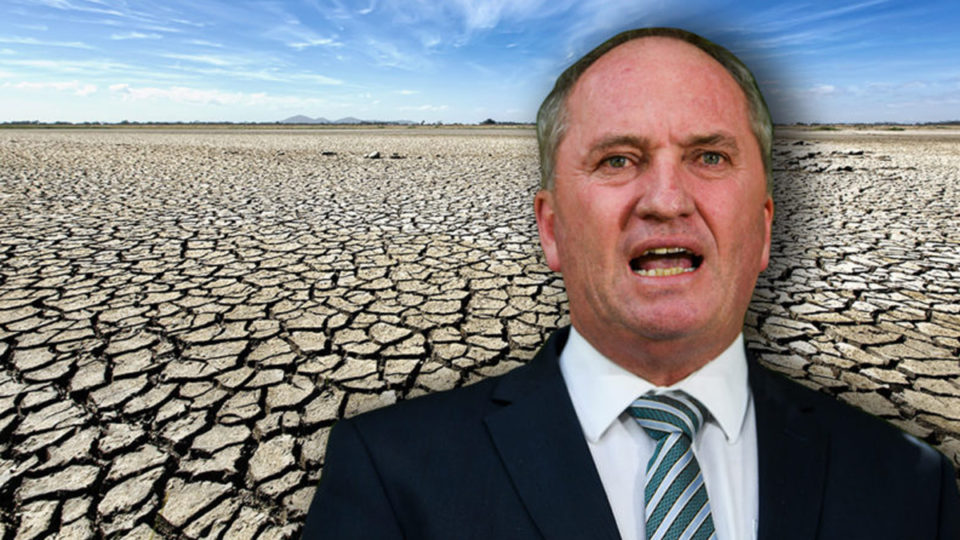 barnaby joyce reports drought