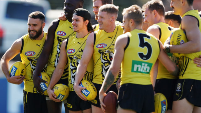 AFL preliminary final: Tigers relaxed with the pressure on Cats