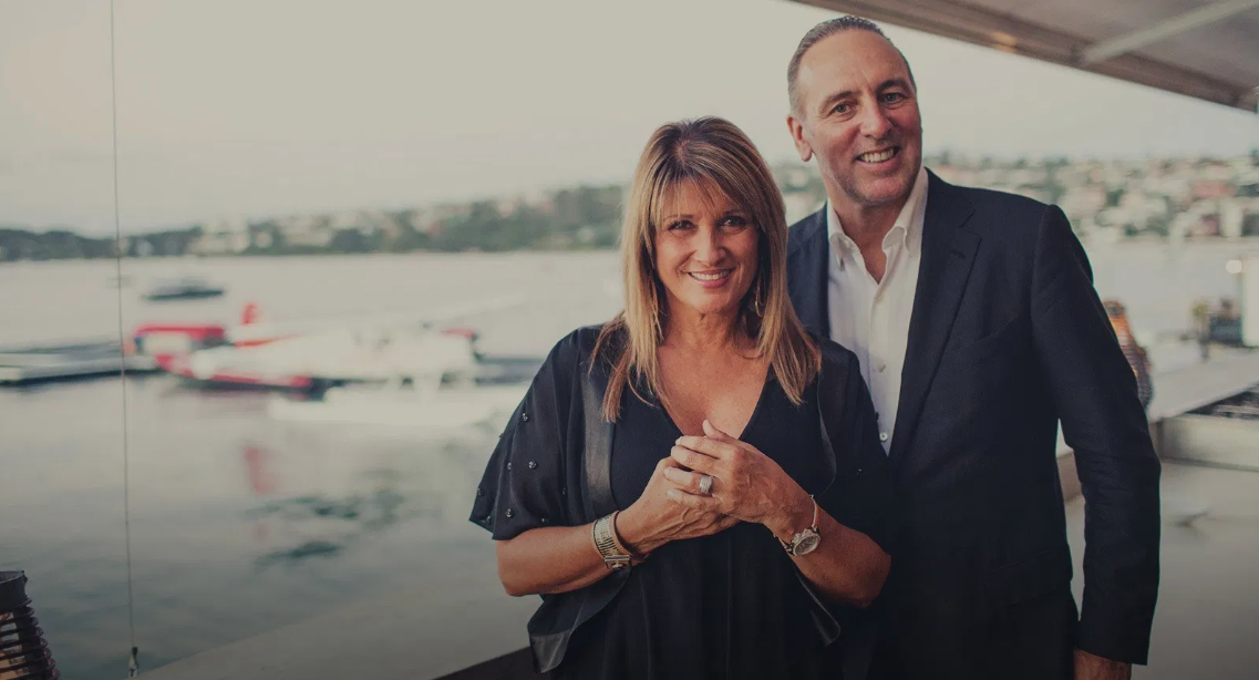 Brian Houston with his wife Bobbie.