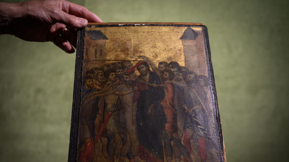 Christ Mocked by Cimabue.