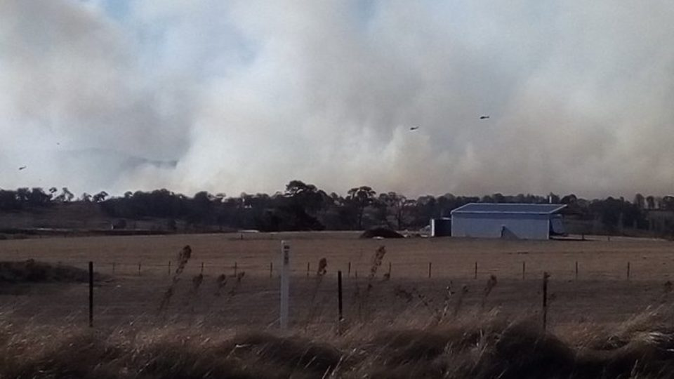 Just three weeks ago the town lost four homes to bushfires.