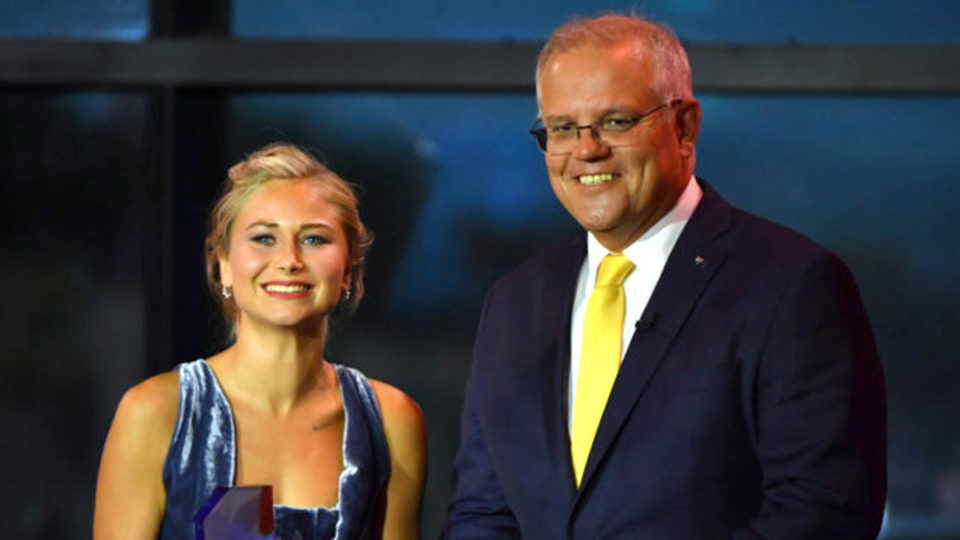 Grace Tame has shared a conversation she had with Scott Morrison