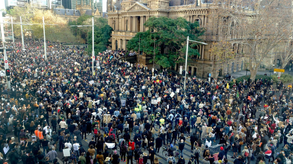nsw virus protests illegal