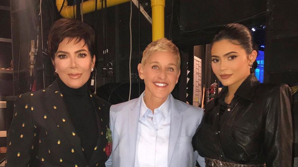 Kris Jenner Kylie Jenner Ellen DeGeneres
