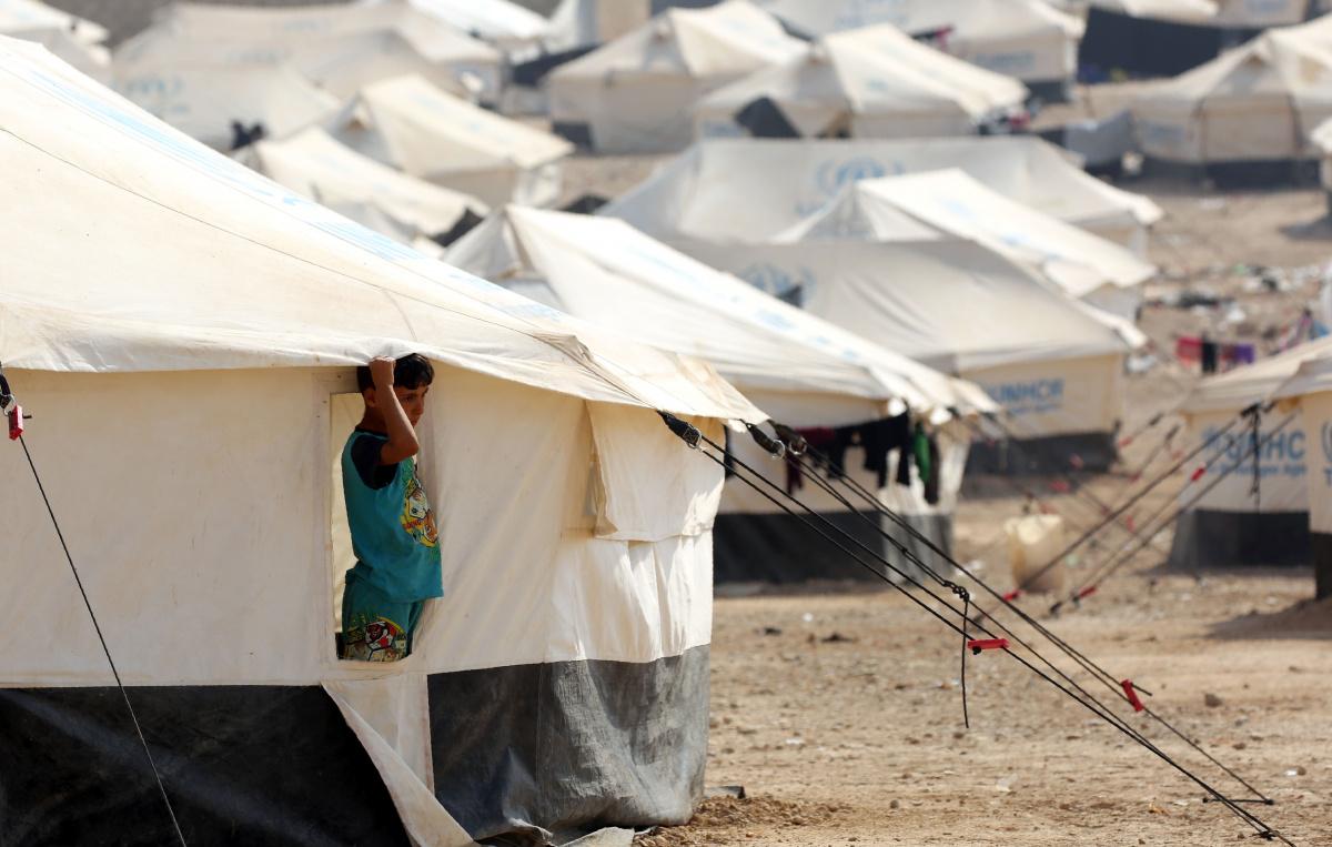 None of the camp children go to school. Photo: Getty