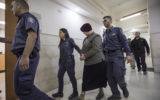 Ms Leifer is brought to Jerusalem District court. Photo: AAP
