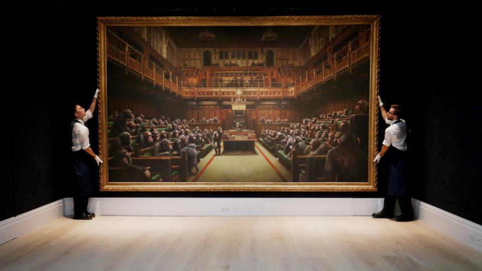 banksy devolved parliament record