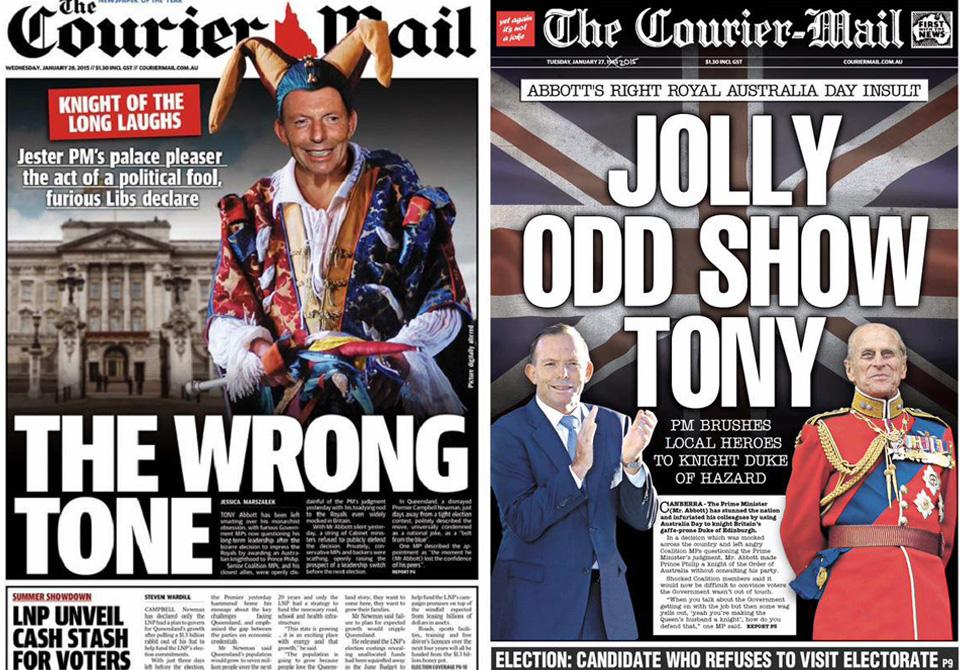 Unrepentant' Tony Abbott would still like return to knights, dames