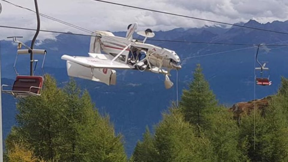 chairlift plane alps