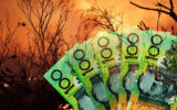 Hundred dollar notes and a bushfire.