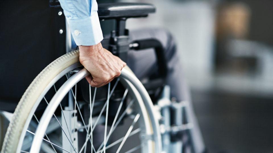 A man in wheelchair