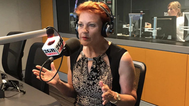 Pauline Hanson weeps at plight of dairy farmers