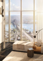 Artists rednering of the One Sydney Harbour penthouse.
