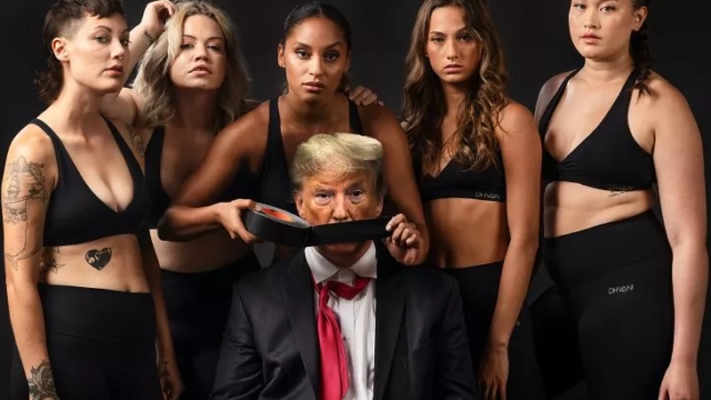 Bound to raise a stink: Ad campaign features Trump gagged, beaten and abused