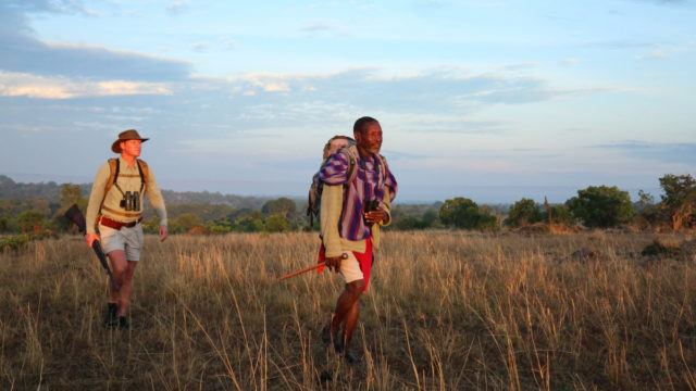 Walking across Kenya with the Maasai Mara.