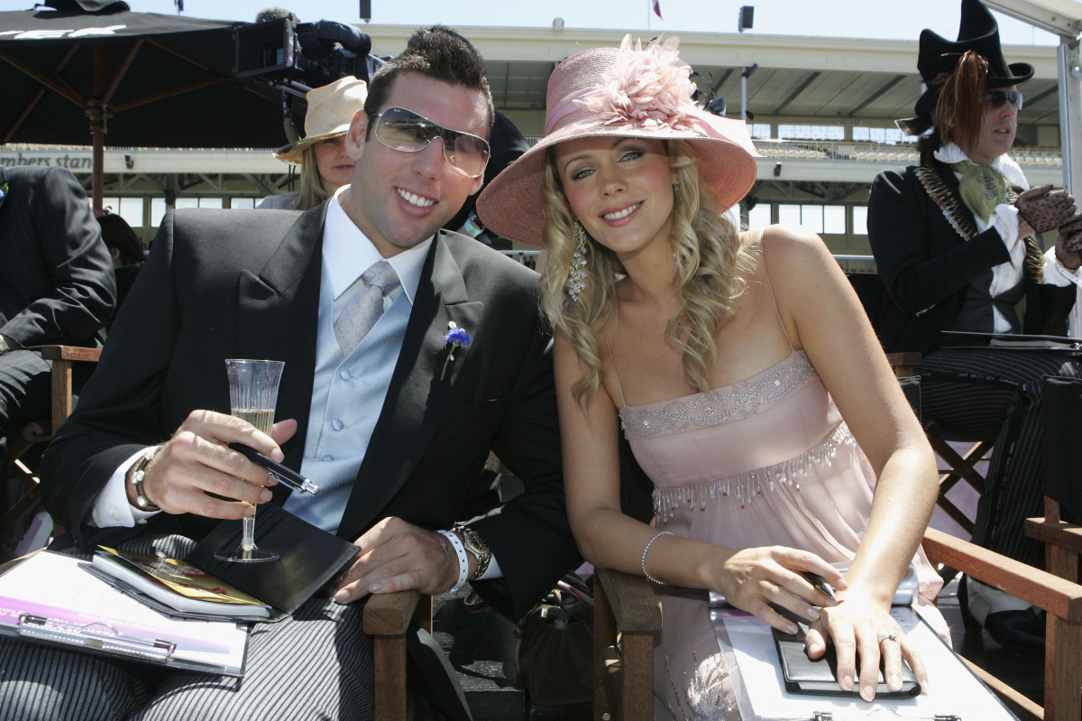 Grant Hackett Sophie Falkiner 2004 Melbourne Cup