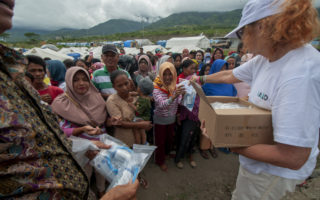 aid workers disaster zones