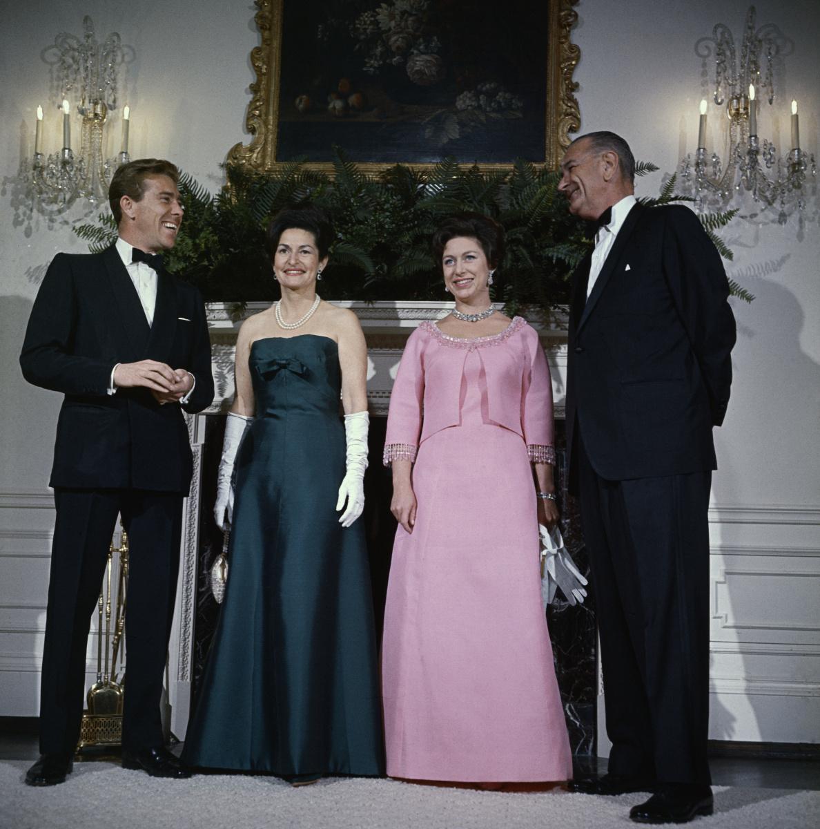 Princess Margaret Lord Snowon Lyndon Johnson Lady Bird Johnson