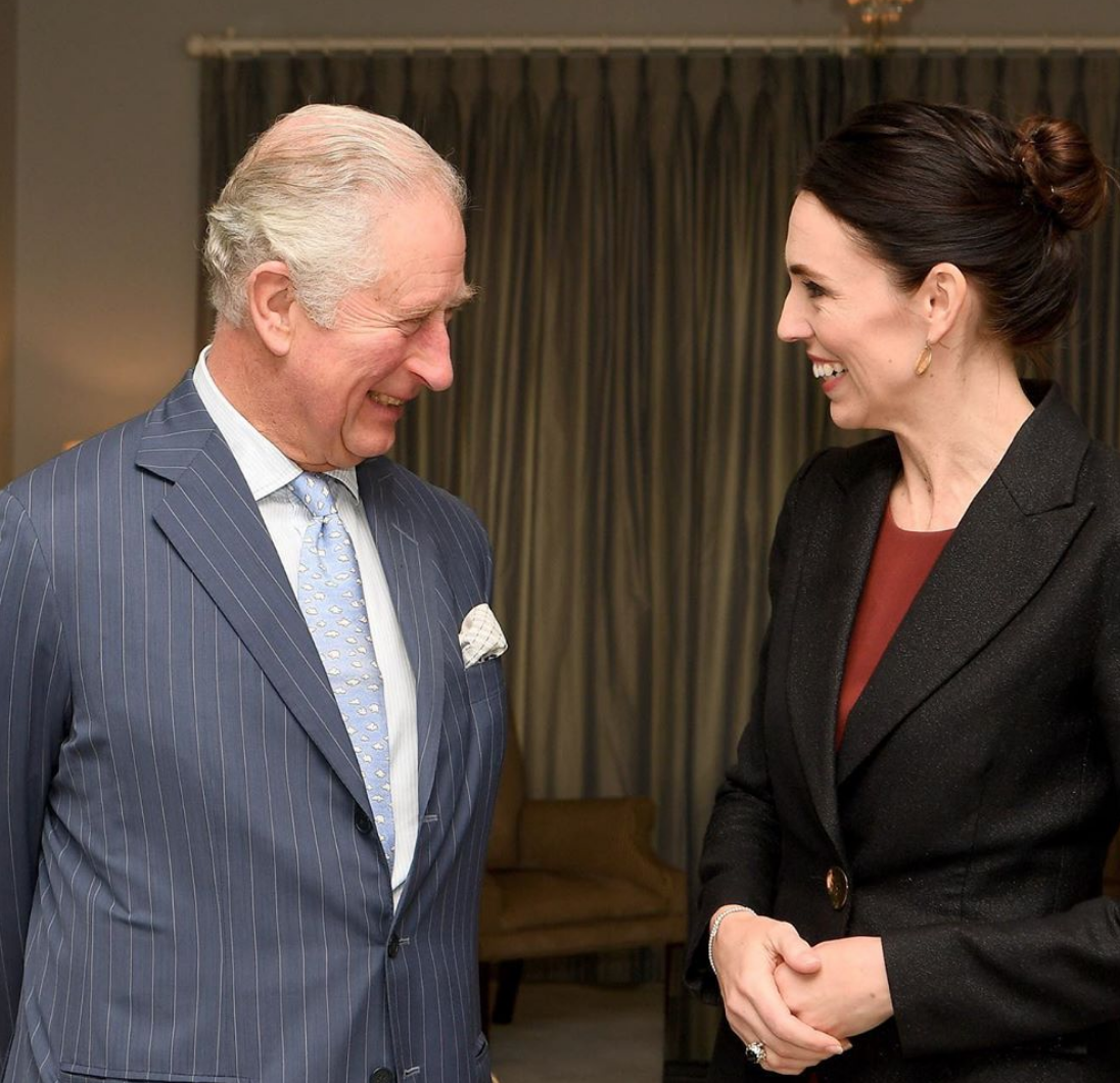 Prince Charles Jacinda Ardern