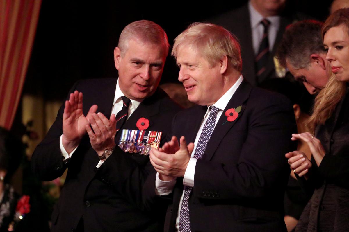 Prince Andrew Boris Johnson