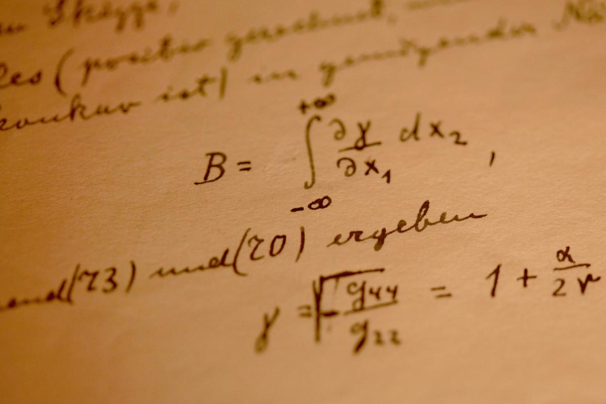 General theory of relativity written bv Einstein