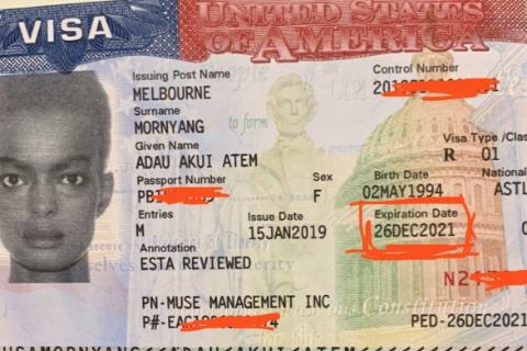Adau Mornyang visa