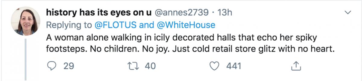 Melania Trump tweet
