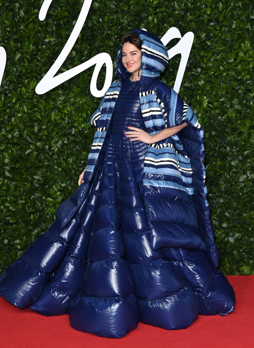 Shailene Woodley and her puffer dress take Fashion Awards 2019 to new extremes_1