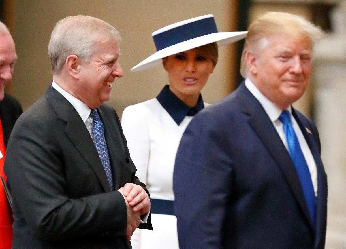 Prince Andrew Melania Trump Donald Trump
