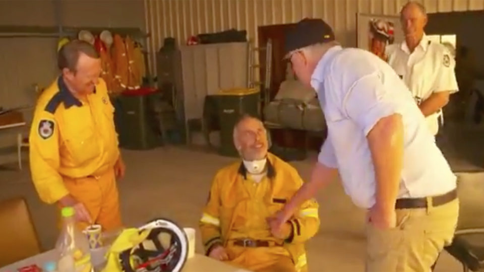 scott morrison firefighter handshake