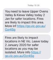 bushfire emergency saturday 2020