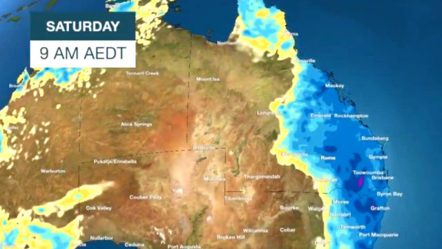 Deluge over Australia's east coast dumps rainfall of nearly 200mm