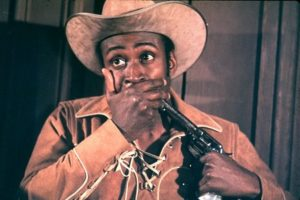 Cleavon Little as sheriff Bart in Blazing Saddles.
