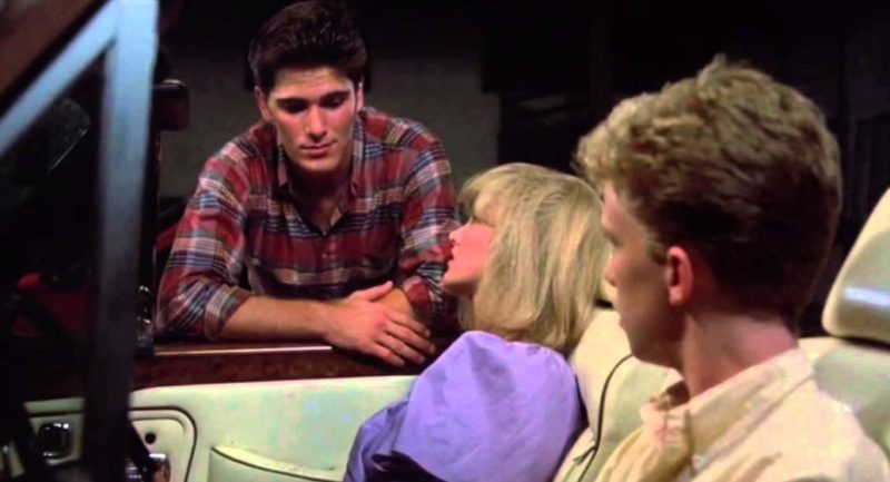 Anthony Michael Hall, Michael Schoeffling, and Haviland Morris in Sixteen Candles (1984).