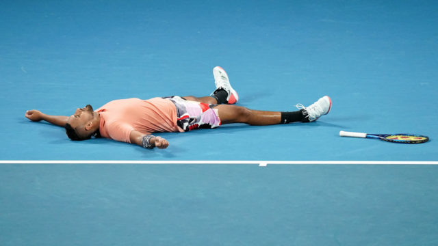 Australian Open: Kyrgios busts a gut and forces a showdown with Nadal