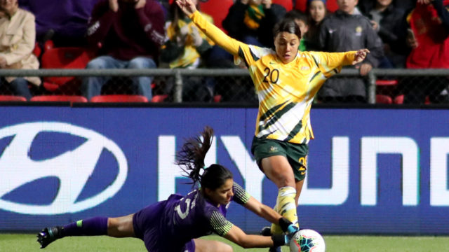 Matildas score win as Olympic qualifiers shifted to Sydney