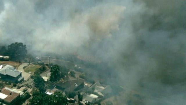 Forrestfield bushfire sparks emergency warning in Perth Hills
