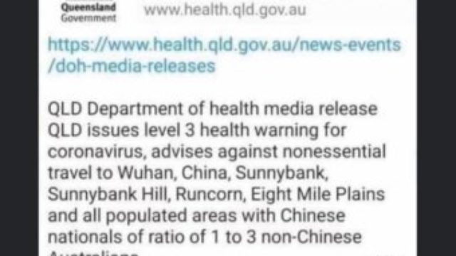 Queensland MP disgusted by hoax virus warning