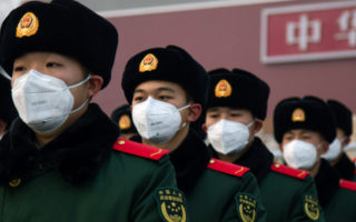 coronavirus masks military China