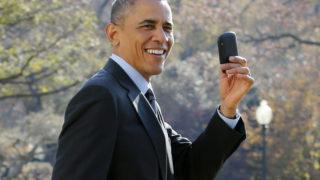 Barack Obama blackberry