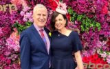 Michael McCormack and wife at the Melbourne Cup in 2018