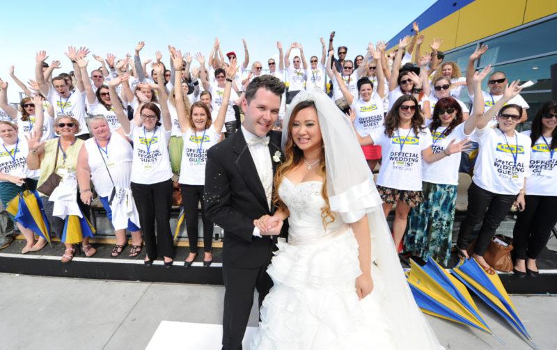 wedding at Ikea