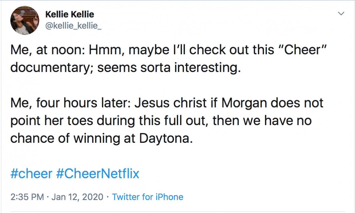 Cheer tweet