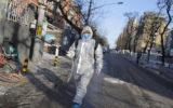 Disinfecting Beijing streets