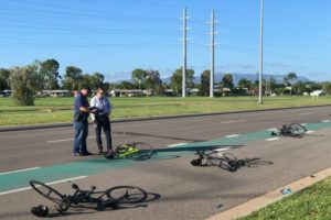 townsville cyclists hit run