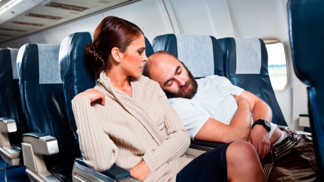 Reclining one's seat might still be a debatable topic, but falling asleep on your neighbour is definitely bad passenger behaviour.