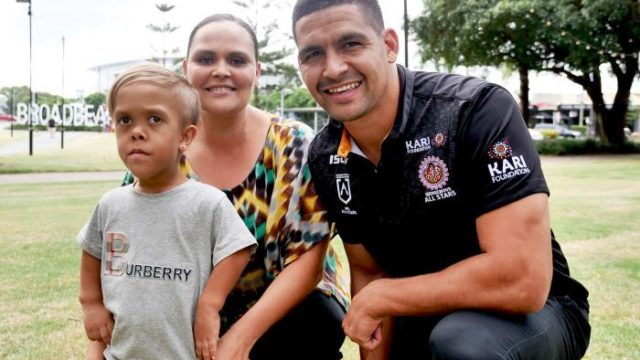 Quaden Bayles 'very excited' to lead out NRL players as Disneyland fundraiser hits $300,000