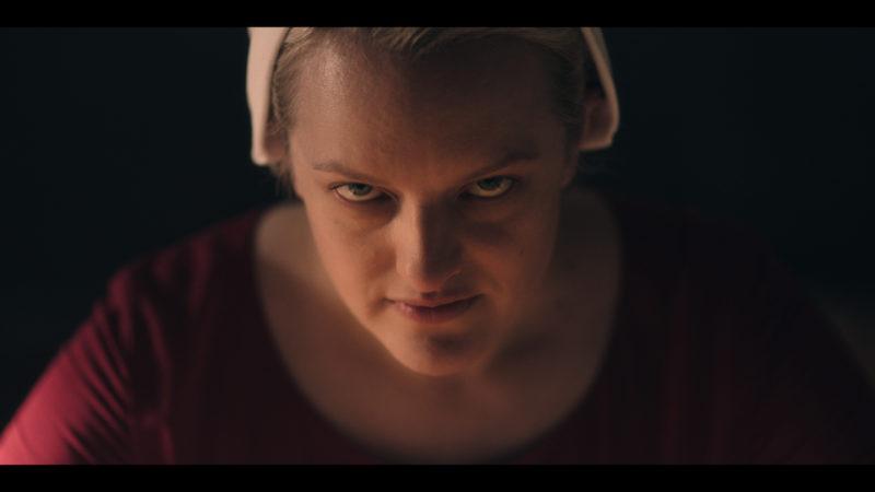 Elisabeth Moss in <i> The Handmaid's Tale </i>.