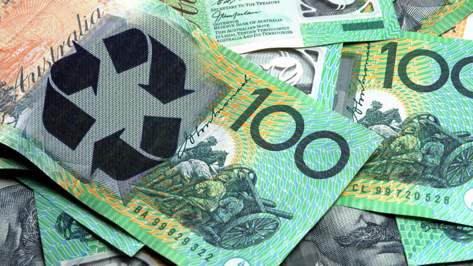 Australia is aiming to become a circular economy, where all waste products are recycled or reused.